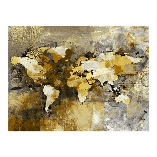 Fotobehang - Artistieke kaart van de Wereld