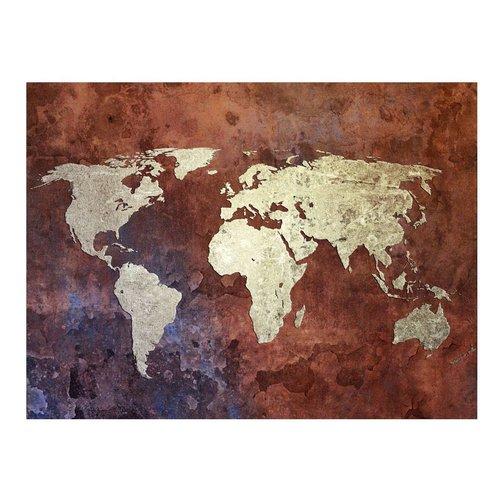 Fotobehang - Ijzer continenten