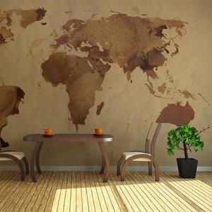 Fotobehang - Thee kaart van de Wereld