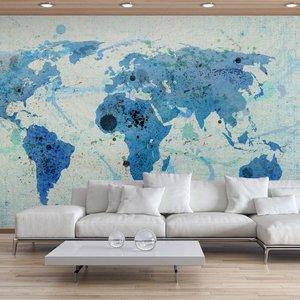 Fotobehang - Cruising and sailing -  The World map