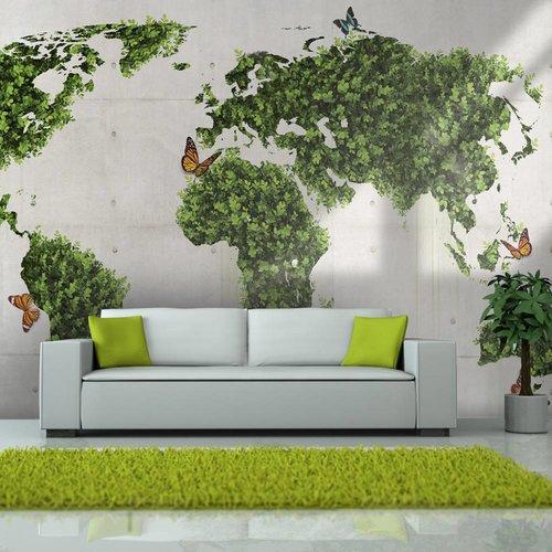 Fotobehang - De vlindertuin, wereld