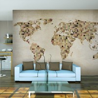 Fotobehang - Wereldkaart van rust