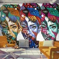 Fotobehang - Kleurige gezichten , multi kleur , 5 maten