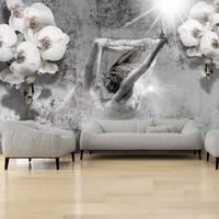 Fotobehang - Arrangement with orchid