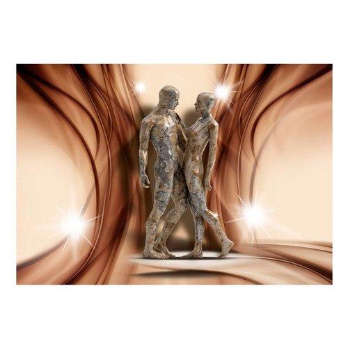 Fotobehang - Stenen geliefden  , beige bruin