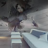 Fotobehang - Bedekt met veren