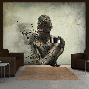 Fotobehang - Innerlijke explosie , zwart wit