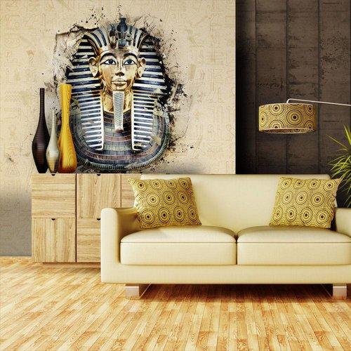 Fotobehang - Farao , beige zwart