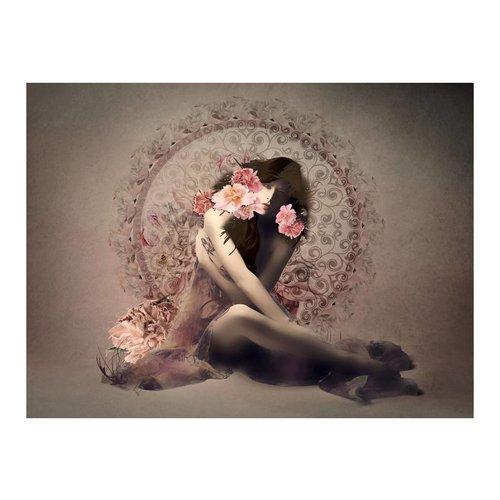 Fotobehang - Layla , beige roze
