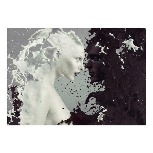 Fotobehang - Licht en donker, zwart wit