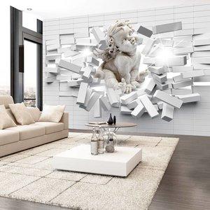 Fotobehang - Moderne Engel, meerdere maten, wit