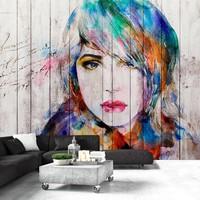 Fotobehang - Wooden Portrait