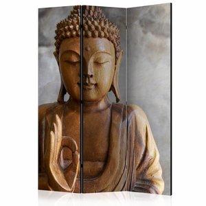 Vouwscherm- Boeddha  135x172cm gemonteerd geleverd (kamerscherm)