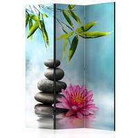 Vouwscherm - Water Lily and Zen Stones [Room Dividers]