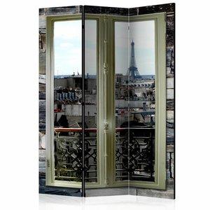Vouwscherm  - Kamerscherm - Uitzicht over Parijs  135x172cm