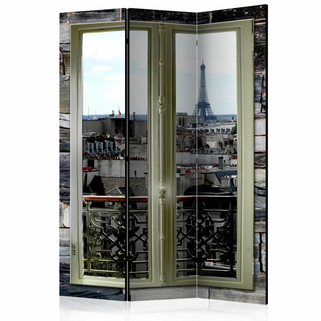 Vouwscherm - Uitzicht over Parijs 135x172cm