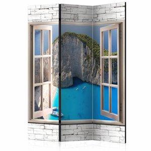 Vouwscherm - Hemelsblauw paradijs 135x172cm