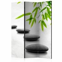 Vouwscherm  - Kamerscherm - Zen stenen 135x172cm , gemonteerd geleverd