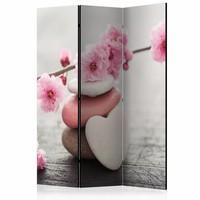 Vouwscherm  - Kamerscherm - Zen Bloemen 135x172cm , gemonteerd geleverd