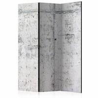 Vouwscherm - Kamerscherm - Betonnen muur 135x172cm, gemonteerd geleverd