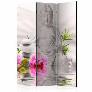 Vouwscherm - Kamerscherm - Witte Boeddha 135x172cm
