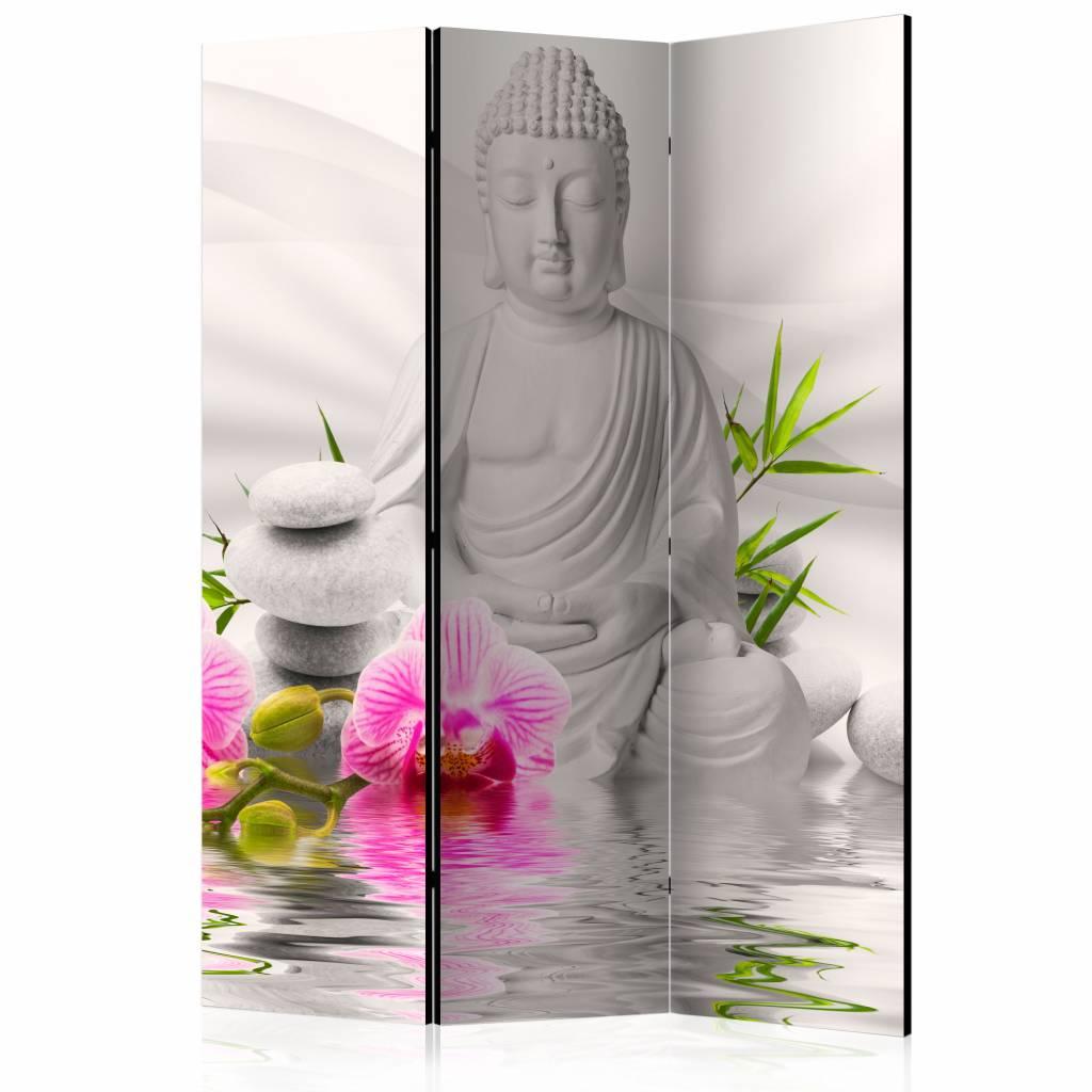 Vouwscherm - Witte Boeddha 135x172cm