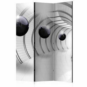Vouwscherm - Kamerscherm - Futuristische tunnel 135X172cm , gemonteerd geleverd, dubbelzijdig geprint