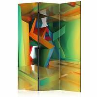 Vouwscherm - Kleurrijke ruimte 135x172cm
