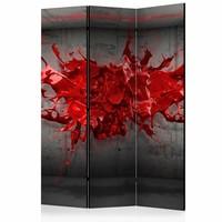 Vouwscherm - Kamerscherm - Rode inkt 135x172cm