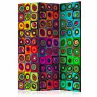 Vouwscherm - Kleurrijk abstract 135x172cm