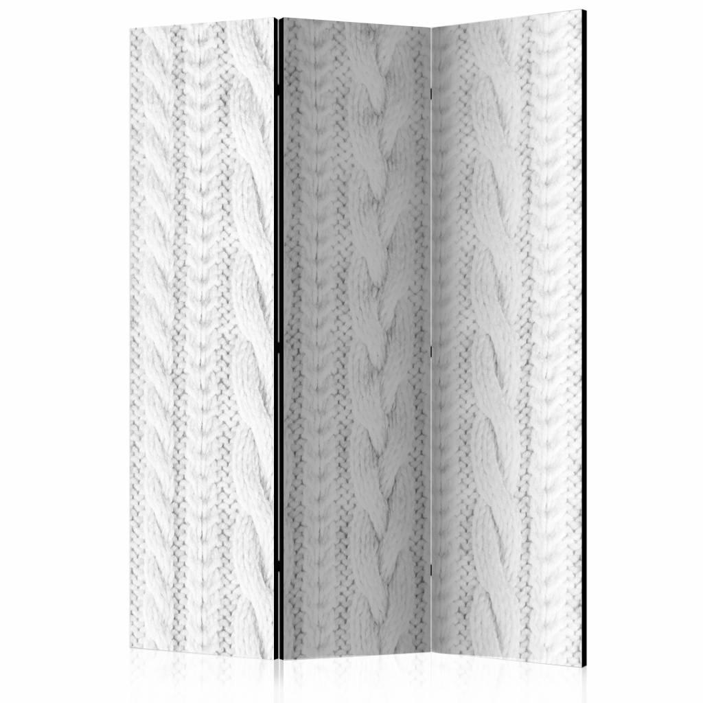 Vouwscherm - In het wit 135x172cm , gemonteerd geleverd (kamerscherm)