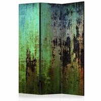 Vouwscherm - Groene mysterie 135X172cm , gemonteerd geleverd (kamerscherm)  dubbelzijdig geprint