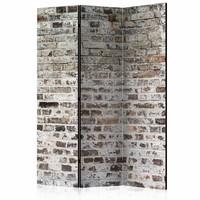 Vouwscherm - Oude stenen muur 135x172cm , gemonteerd geleverd (kamerscherm)