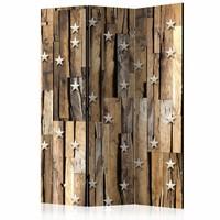 Vouwscherm - Sterren op hout 135x172cm