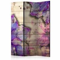 Vouwscherm - Herinnering in het paars 135x172cm, gemonteerd geleverd (kamerscherm)  dubbelzijdig geprint