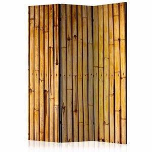 Vouwscherm - bamboe schutting 135x172cm, gemonteerd geleverd (kamerscherm)  dubbelzijdig geprint