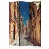 Vouwscherm - Zomers straatje 135x172cm