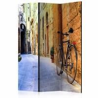 Vouwscherm - Zomer in Italië 135x172cm, gemonteerd geleverd (kamerscherm) dubbelzijdig geprint