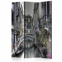 Vouwscherm - Romantisch Venetië 135x172cm, gemonteerd geleverd (kamerscherm) dubbelzijdig geprint