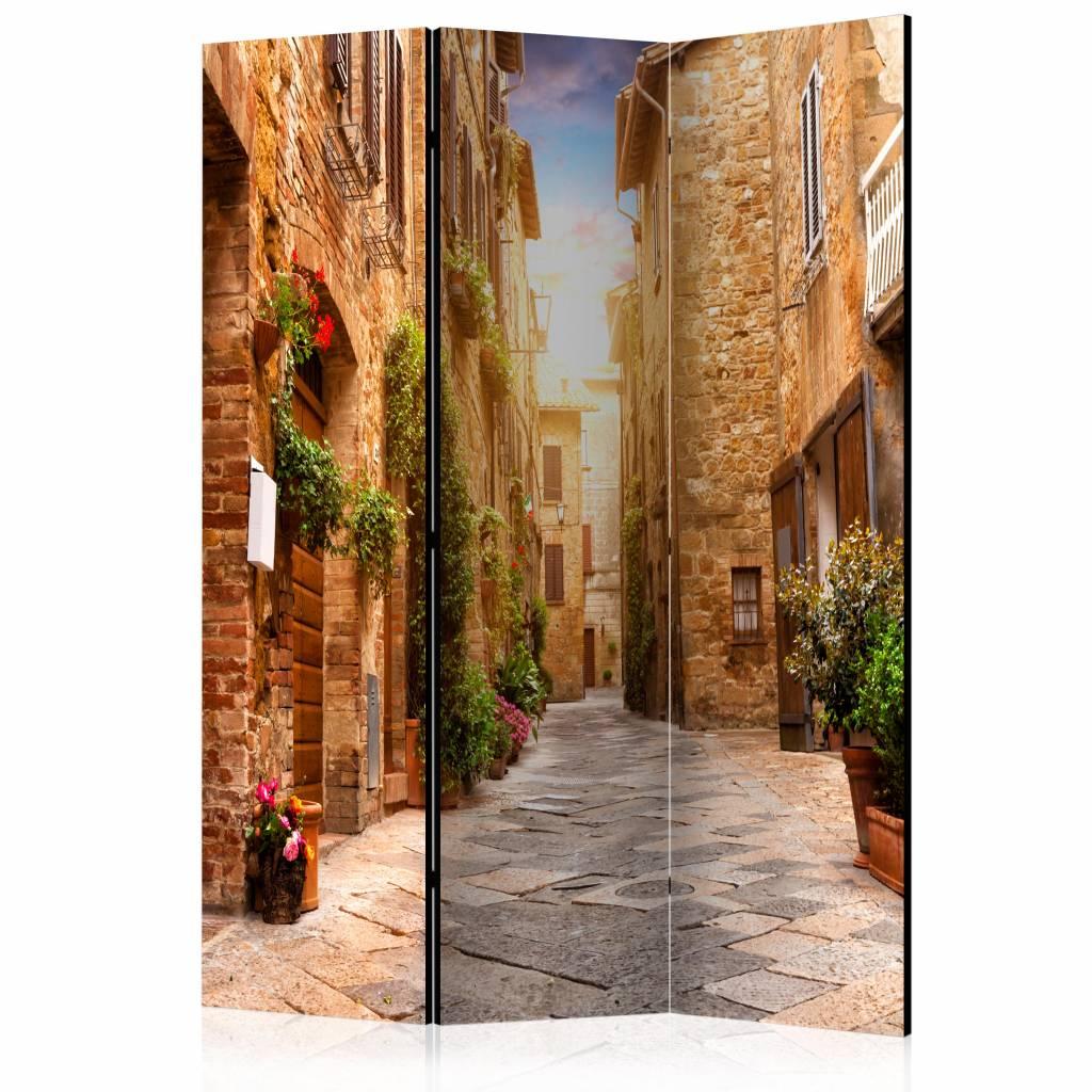 Vouwscherm - Straatje in Toscane 135x172cm