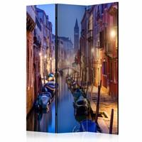 Vouwscherm - Een avond in Venetië 135x172cm, gemonteerd geleverd (kamerscherm) dubbelzijdig geprint