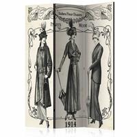 Vouwscherm - Jurken uit Parijs, 1914  135x172cm, gemonteerd geleverd (kamerscherm) dubbelzijdig geprint
