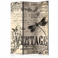 Vouwscherm - Vintage correspondentie 135x172cm