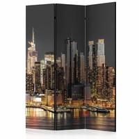 Vouwscherm - New York at Twilight 135x172cm