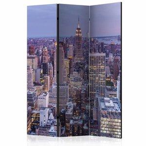 Vouwscherm - Avond over New York 135x172cm