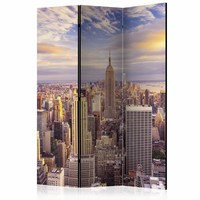 Vouwscherm - new York in de ochtend 135x172cm