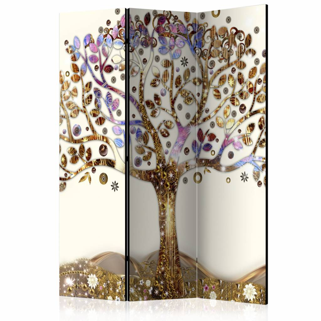 Vouwscherm - Gouden boom 135x172cm