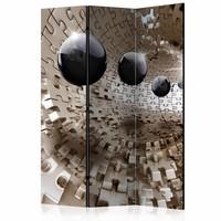 Vouwscherm - Gouden puzzel 135x172cm