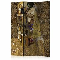 Vouwscherm - Gouden kus 135x172cm, gemonteerd geleverd (kamerscherm)