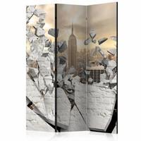 Vouwscherm - New York achter de muur 135x172cm , gemonteerd geleverd (kamerscherm)